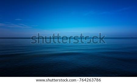 Dark and Blue ocean, Vast ocean and calm #764263786