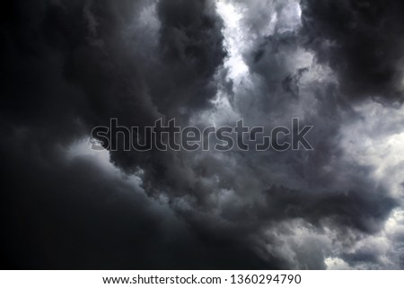 Dark and Dramatic Storm Clouds Area Background #1360294790