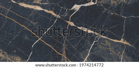 Dark and natural marble for home decoration, italian marble, slab vains marble for high gloss, black marble, golden vains Stock photo ©