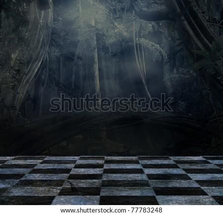 Dark background for still life composition