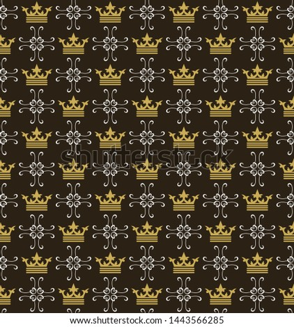 Dark background pattern. Retro pattern. Background image. Seamless wallpaper in the royal style