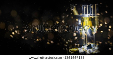 Dark background with champagne #1361669135