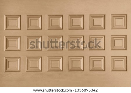 Dark beige wooden door close up #1336895342