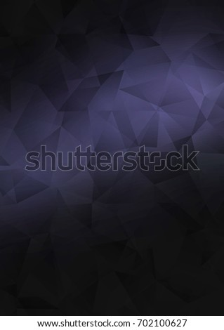 Dark Black abstract mosaic background. A completely new color illustration in a vague style. The completely new template can be used for your brand book.
