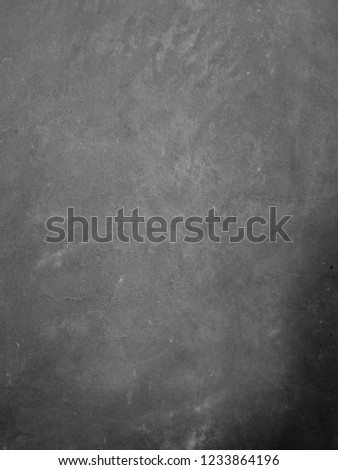 Dark black and white soft fade background from grunge concrete paint wall textured with pattern from cracked for abstract background concept. #1233864196