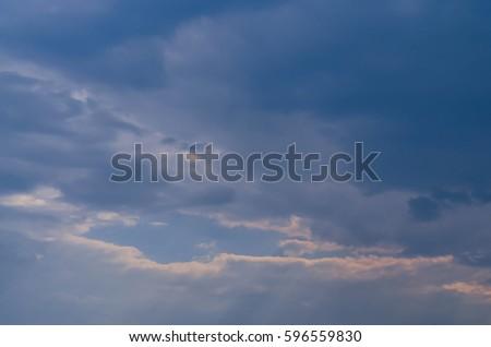 Dark black clouds in the sky Daya. #596559830