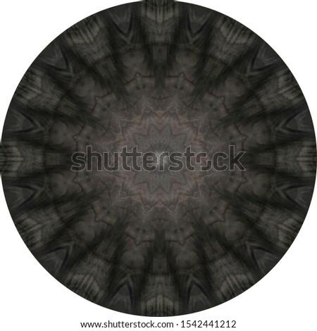dark black ebony round table, abstract trellis centered grain pattern