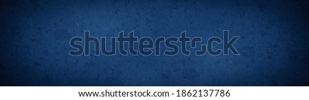 Photo of  Dark black phantom blue abstract stone concrete paper texture background panorama banner long, with space for text