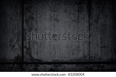 Dark, black textured grunge background - stock photo
