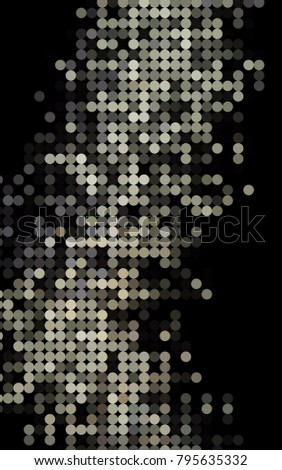 dark black vertical abstract pattern with circles geometry template