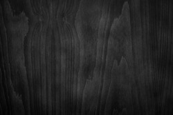Dark Black Wood Texture Background