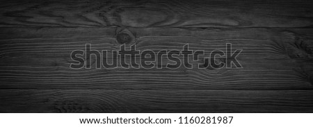 Stock Photo Dark black wooden texture. panoramic Vintage rustic style. wood Natural surface