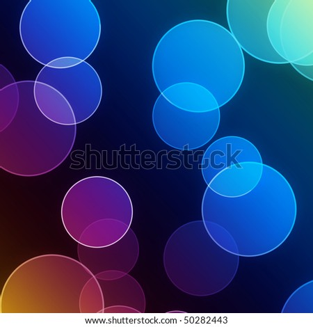 dark blue and purple water bubbles pattern lighting up in the dark