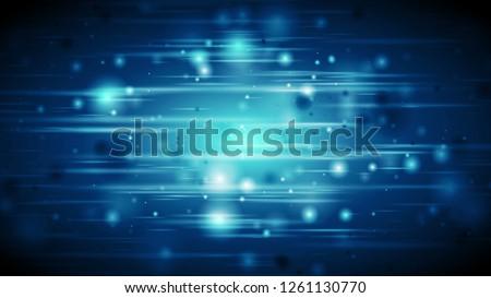 Dark blue defocused glowing lights abstract background