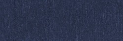 Dark blue denim background, detailed and high resolution fabric texture. Wide and long textile banner.