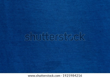 Dark Blue denim fabric texture background, the strong cotton cloth used especially to make jeans. ストックフォト ©