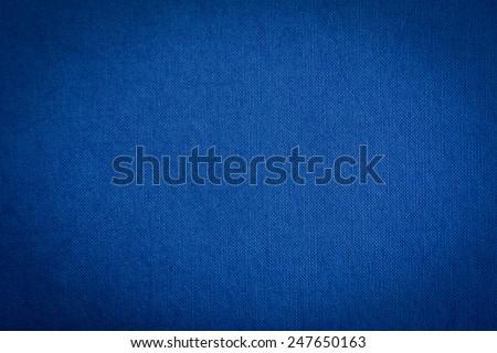 Dark blue fabric texture background
