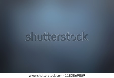 Dark blue grey black blurred ombre pattern. Mystery empty background. Cloudy night sky defocused texture. Smoky obscure abstract illustration.