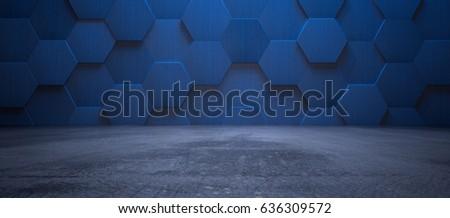 dark blue interior with...