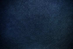 Dark blue leather texture background surface