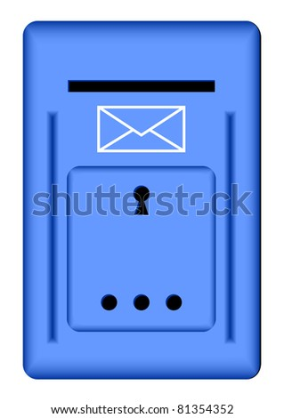 Dark blue mail box on a white background.EPS version is available as ID 77733313.