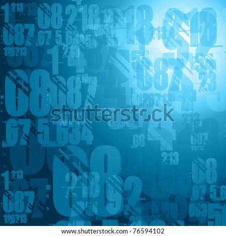 dark blue numbers background illustration