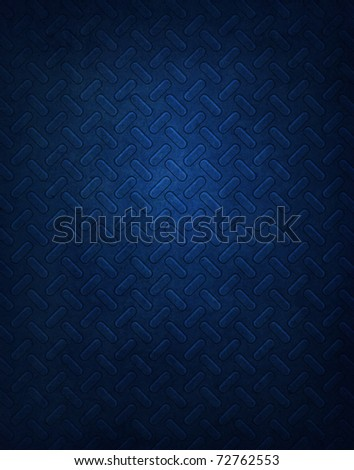 Dark Blue perforated Metal pattern Background