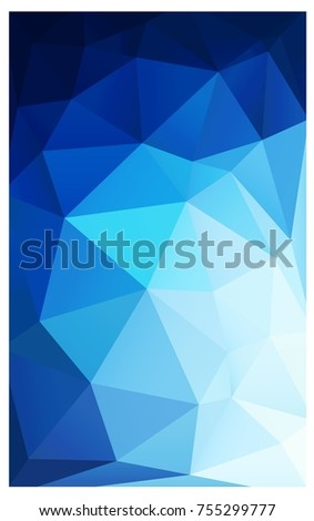 DARK BLUE polygonal illustration, which consist of triangles. Triangular pattern for your business design. Geometric background in Origami style with gradient.