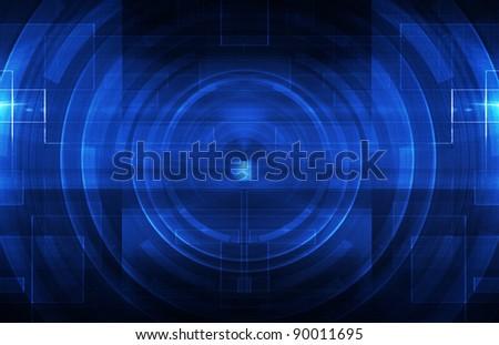Dark blue tech background