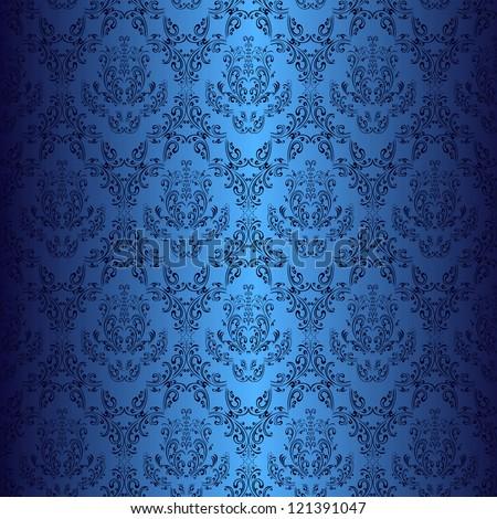 dark blue wallpaper in style