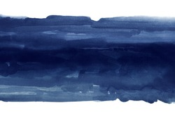 dark blue watercolor stain, abstract color background