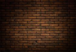 Dark brick wall background, texture