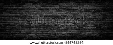 dark brick wall, texture  black stone blocks, high resolution panorama