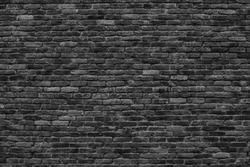 dark brick wall, the black block as a background texture