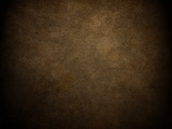 Dark brown background. Vintage paper