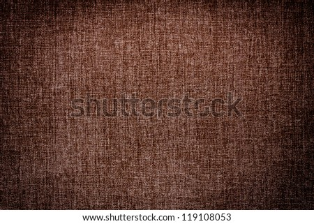 Dark brown canvas texture background, dark edged