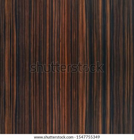 dark brown ebony wooden panel, black brown grain pattern straight vertical lines pattern