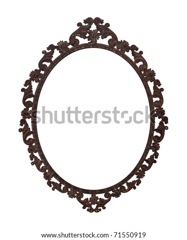 dark brown elips vintage frame