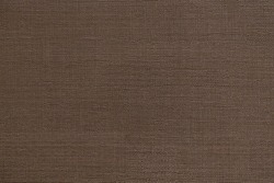 Dark brown linen fabric of tablecloth pattern surface texture. Close-up of interior material for design decoration background