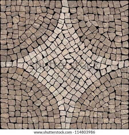Dark brown marble-stone mosaic texture. (High.res.)