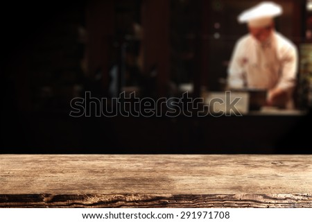 dark brown old top place and cook in bar