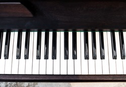 Dark Brown Piano keyboard