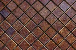 Dark brown smooth stone mosaic wall floor