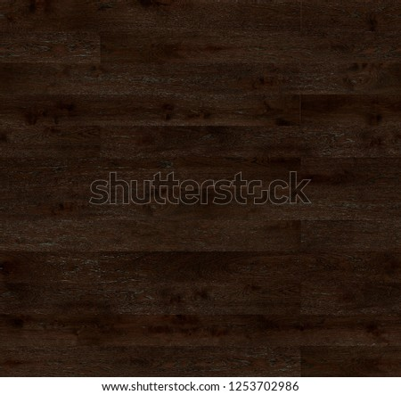 Dark brown wood texture. Oak floorboards. #1253702986