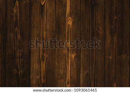 Dark brown wood texture with natural striped pattern for background, wooden surface for add text or design decoration art work #1093061465