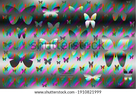 dark butterfly shape abstract background illustration design with solid grass nuances Photo stock ©