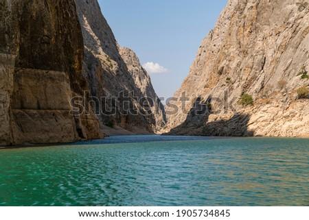 Dark Canyon (Karanlik Kanyon in Turkish) in Kemaliye, Egin, Erzincan, Turkey. Euphrates River in Turkey.  Stok fotoğraf ©