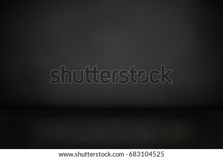 dark cement floor and black background - can be used for display or montage your products (or foods) #683104525