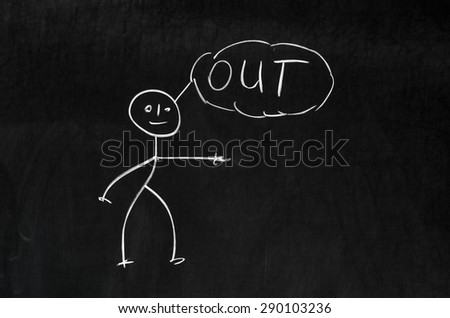Dark chalkboard with a pegman and strong anger emotion