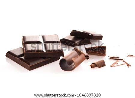 Dark Chocolate Blocks #1046897320